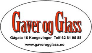 Logo, Gaver og Glass Kongsvinger AS